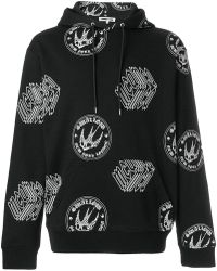 McQ - Graphic Logo Swallow Print Hoodie - Lyst