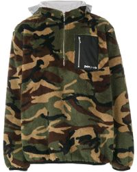 Palm Angels | Camouflage Zip Jumper | Lyst