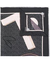Liu Jo - Polka Dot Print Scarf - Lyst