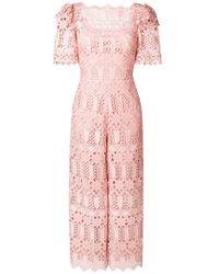 3f1d22434946 Lyst - Temperley London Titania Lace Jumpsuit in White