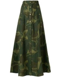 Zadig & Voltaire - Camouflage Print Skirt - Lyst