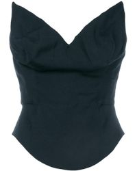 Vivienne Westwood Anglomania - Pointy Bandeau Top - Lyst