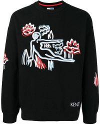 KENZO - Embroidered Sweatshirt - Lyst
