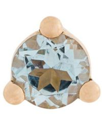 Delfina Delettrez - 18kt Gold Dots Solitaire Aquamarine And Pearl Earring - Lyst