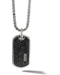 David Yurman - Collar con placa colgante con diamantes en pavé - Lyst