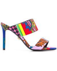 Versace - Baroque Print Sandals - Lyst