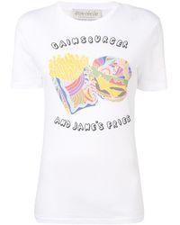 """Être Cécile T-Shirt mit """"Gainsburger""""-Print"""