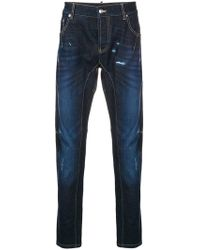 Les Hommes - Distressed Slim-fit Jeans - Lyst