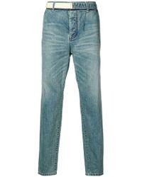 Sacai - Faded Slim Jeans - Lyst