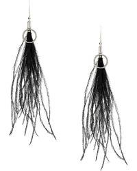 Ann Demeulemeester - Feather Earrings - Lyst