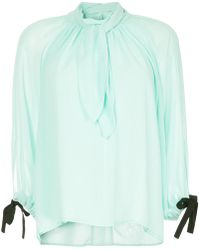 Eudon Choi - Draped Front Blouse - Lyst