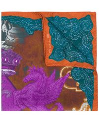 Etro - Printed scarf - Lyst