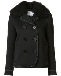 Paco Rabanne - Double Breasted Peacoat - Lyst