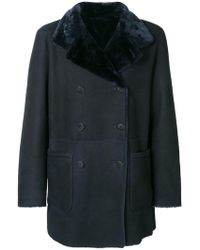 Giorgio Armani - Double Breasted Coat - Lyst