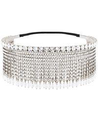 Miu Miu - Crystal Embellished Fringed Headband - Lyst 749ce2eb7846a