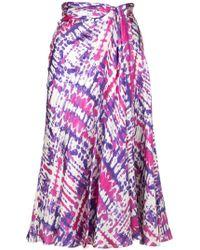 Prabal Gurung - Tie Dye Sarong Skirt - Lyst