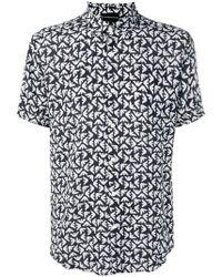 Emporio Armani - Camicia con stampa - Lyst