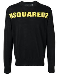 DSquared² - Fine-knit Logo Jumper - Lyst