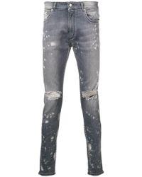 Represent - Distressed Skinny Jeans - Lyst