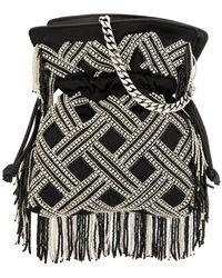 Les Petits Joueurs - Embellished Bucket Bag - Lyst