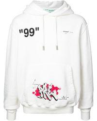 Off-White c/o Virgil Abloh - Hooded Sweatshirt - Lyst