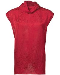 Carmen March - Textured Roll Neck Top - Lyst
