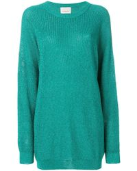 Laneus - Long Round Neck Jumper - Lyst