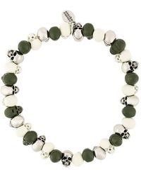 Alexander McQueen - Beaded Skull Bracelet - Lyst