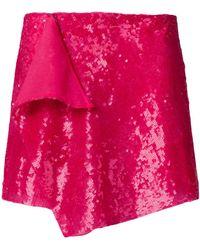 Alberta Ferretti - Sequin Embellished Mini Skirt - Lyst