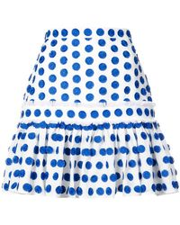 Alexis - Dot Embroidered Mini Skirt - Lyst