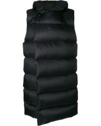Rick Owens - Sleeveless Puffer Coat - Lyst