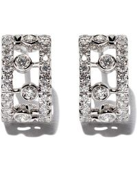 De Beers - 18kt White Gold Dewdrop Diamond Earrings - Lyst