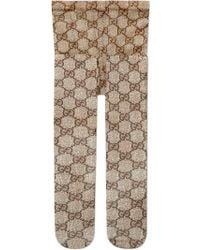 5bdbb4132e21 Gucci - GG Pattern Tights - Lyst