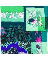 Emilio Pucci - 90x90 Printed Square In Multicolor Silk - Lyst