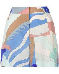 Emilio Pucci - Printed Shorts - Lyst