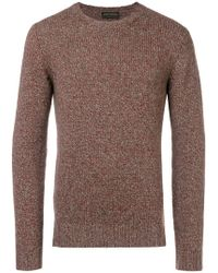 Dell'Oglio - Melange Knit Sweater - Lyst