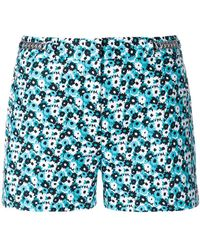 MICHAEL Michael Kors - Chain-embellished Floral-print Shorts - Lyst