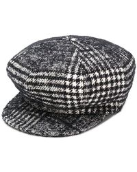 d2e01889dd7 Gucci Houndstooth Felt Baseball Cap With Ear Flaps in Black for Men ...