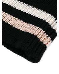 Lanvin - Striped Cuff Gloves - Lyst