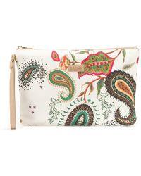 Liu Jo - Paisley Print Clutch Bag - Lyst
