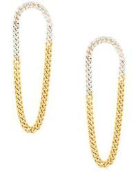 Wouters & Hendrix | 'my Favourite' Two-tone Chain Earrings | Lyst