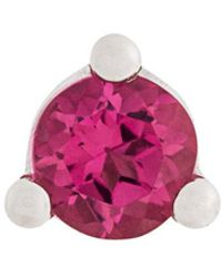 Delfina Delettrez - Dots Solitaire Tourmaline And Pearl Earring - Lyst