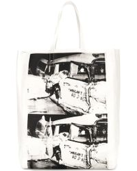 CALVIN KLEIN 205W39NYC - X Andy Warhol Printed Tote Bag - Lyst