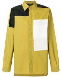 Rick Owens - Рубашка С Контрастными Панелями - Lyst