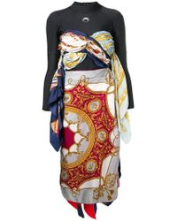 Marine Serre - Long-sleeve Draped Dress - Lyst