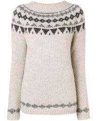 Woolrich - Geometric Knit Sweater - Lyst
