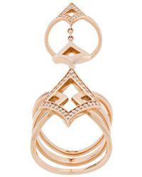 Anapsara - 18kt Rose Gold Oneness Diamond Ring - Lyst