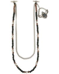 Tagliatore - Bead And Chain Necklace - Lyst