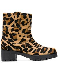 P.A.R.O.S.H. - Leopard Print Boots - Lyst