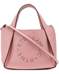 Stella McCartney - Pink Logo Tote Bag - Lyst